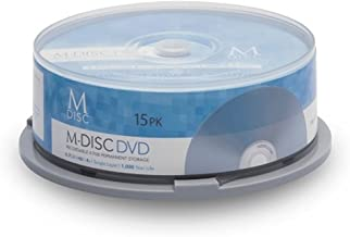 15 Pack Millenniata M-Disc DVD 4.7GB 4X HD 1000 Year Permanent Data Archival / Backup Blank Media Recordable Disc