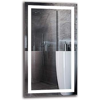 Espejo LED Premium - Dimensiones del Espejo 50x90 cm - Espejo de baño con iluminación LED - Espejo de Pared - Espejo de luz - Espejo con iluminación - ARTTOR M1ZP-48-50x90 -