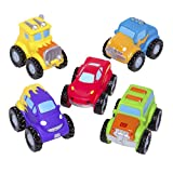 Elegant Baby Bath Time Fun Rubber Water Squirtie Toys, Monster Truck Party,  Squirt Toys