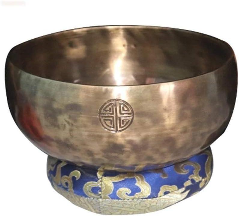ZYING Tibetano Luna Llena Tazón de Sonido de Instrumento Musical Hecho a Mano de Cobre Agotamiento Yoga Meditación de Sonido Buda Cuenco (Size : 15cm)