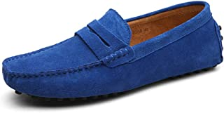 f9ce064bacb0 Cow Suede Leather Loafers Men Slipon Moccasins Driving Plus Size 38-49  Mocassin Homme Classic