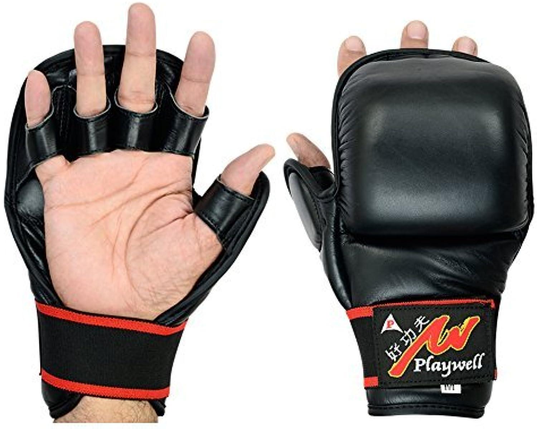 Unbekannt MMA MMA MMA hybrid alle Leder Sparring Shooto Ringen Handschuhe - 7oz B0792YWCJF  Erste Gruppe von Kunden 25c539
