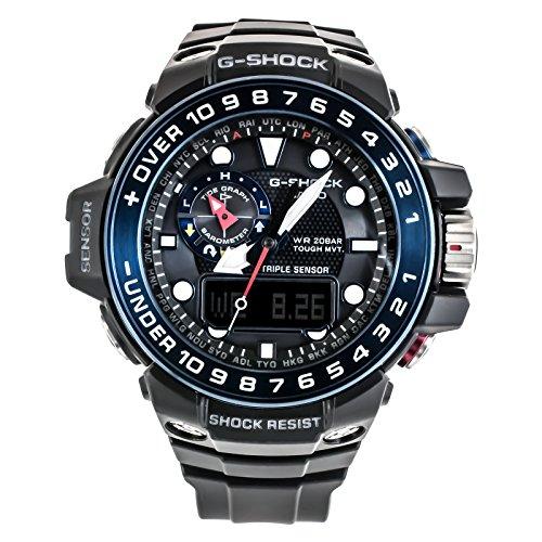 CASIO Reloj Analógico-Digital para Hombre Correa en Resina GWN-1000B-1BER