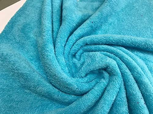 tela de rizo, color turquesa, tela de toalla, algodón 100%, albornoces, cambiadores, tela por metros, 1 metro x 160 cms, ENVIOS GRATUITOS