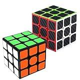 Maomaoyu Speed Cube Coffret, Cube Magique 3x3 Smooth Cube pour Enfants et Adultes ,Pack de 2