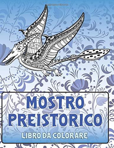 Mostro preistorico - Libro da colorare