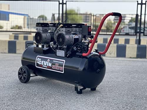 Cevik CA-PRO80SILENT Compresor Aire silencioso 80 litros, 230 V