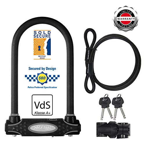 Master Lock Gold Sold Secure Bike Lock & Cable Small Black