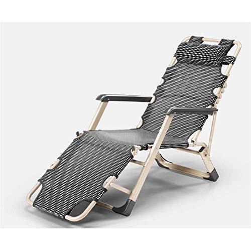 Tumbonas y sillones reclinables para jardín Silla plegable ajustable de gravedad cero con tela Teslin sintética transpirable 4x4 para la playa, piscina, patio al aire libre, jardín, pies para acampar, acero