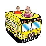 Yunt-11 Scuolabus-Casa dei Giochi Tende per Bambini Design Pop Up Auto-Armante Montaggio Rapido, attività Ricreative al Coperto e all'Aperto Area Ricreativa per Ragazzi e Ragazze