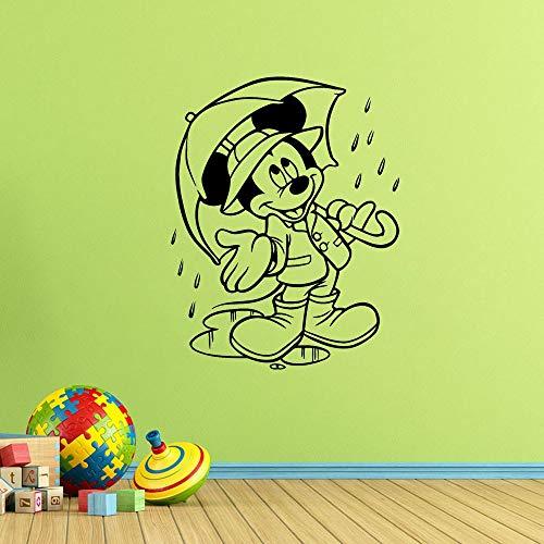 Tianpengyuanshuai muursticker, motief muis afneembaar in de kinderkamer, vinyl, regen, kinderkamer