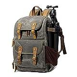 Camera Backpack DSLR Bakpack Waterproof Vintage by G-raphy for DSLR SLR Cameras,Laptops,Lenses and Tripod