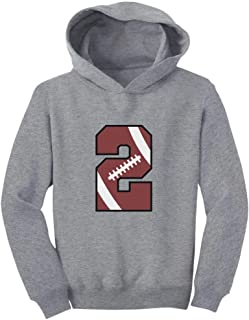 Tstars Gift for 2 Year Old 2nd Birthday Football Toddler Hoodie