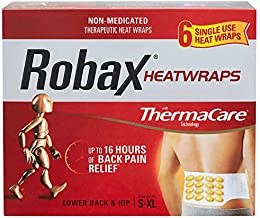 Robax ThermaCare Lower Back & Hip Pain Therapy Heat-wraps - 6 count