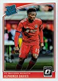 2018-19 Panini Donruss Optic Soccer #176 Alphonso Davies Rookie Card - Rated Rookie. rookie card picture