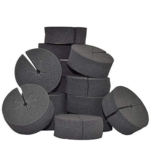 Baalaa 50 piezas de clonación collar buje plántulas vegetales esponja de siembra bloque sin suelo hidropónico esponja de siembra
