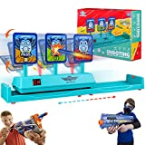 Running Shooting Target for Nerf Gun, Electronic Scoring Auto Reset Digital Moving Toy Guns Targets for Kids Shooting, Ideal Toys for Age 5,6,7,8,9,10,11,12,13+ Year Old Boys/Girls
