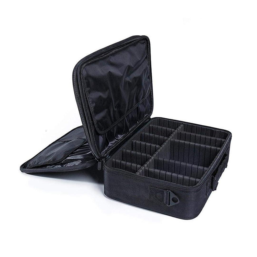 宙返り傾向があります項目収納ボックス プロのタトゥーマニキュア収納ツールボックス大型化粧品ケース収納ボックスポータブルメイクトレインケースメイクアップバッグオーガナイザー 高容量、優れたシール性、自由な組み合わせ、耐摩耗性、内部レイアウトの調整、高級オックスフォードクロス素材