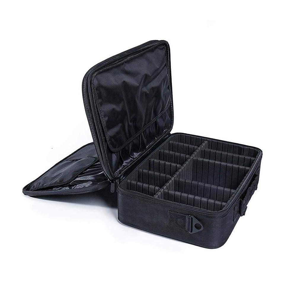 ホバートレクリエーション認可収納ボックス プロのタトゥーマニキュア収納ツールボックス大型化粧品ケース収納ボックスポータブルメイクトレインケースメイクアップバッグオーガナイザー 高容量、優れたシール性、自由な組み合わせ、耐摩耗性、内部レイアウトの調整、高級オックスフォードクロス素材