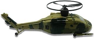 目覚まし時計 バッテリー運転 ヘリコプター警報 タイマー寝室 フライングプロペラブレード 飛行機の離陸および着陸音警報 子供に適している、怠惰な Green