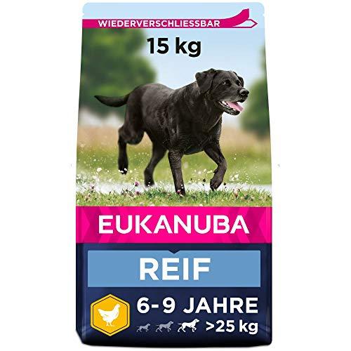 Eukanuba Mature Trockenfutter für reife große Hunde mit frischem Huhn, 15kg