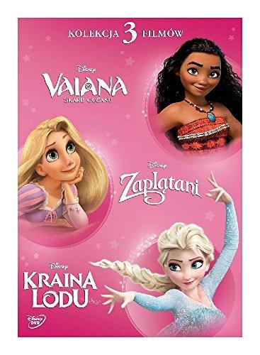 Disney KsiĂÂĚźniczka: Vaiana / ZaplĂÂtani / Kraina Lodu [3DVD] (IMPORT) (Keine deutsche Version)