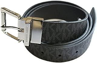 Michael Kors Reversible Leather Signature Belt (Black, XL)