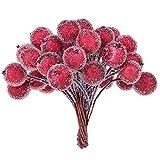 Rubywoo&chili 400 Stk. Frosted Fruit Holly Beeren Mini Weihnachten Künstliche