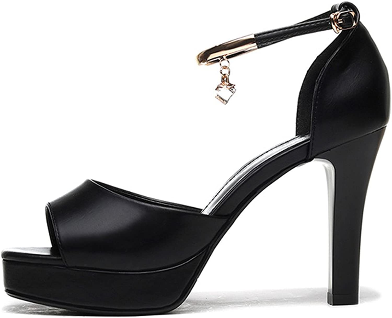 8b9c8dfdca High Heels Sandals Women's Summer High Heels Fashion Thick Heel Fish Head  shoes Sexy Open Toe
