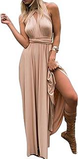 Women Elegant Evening Prom Party Wedding Dress Transformer Infinity Multi Way Wrap V Neck Bandage Bridesmaid Formal Long M...
