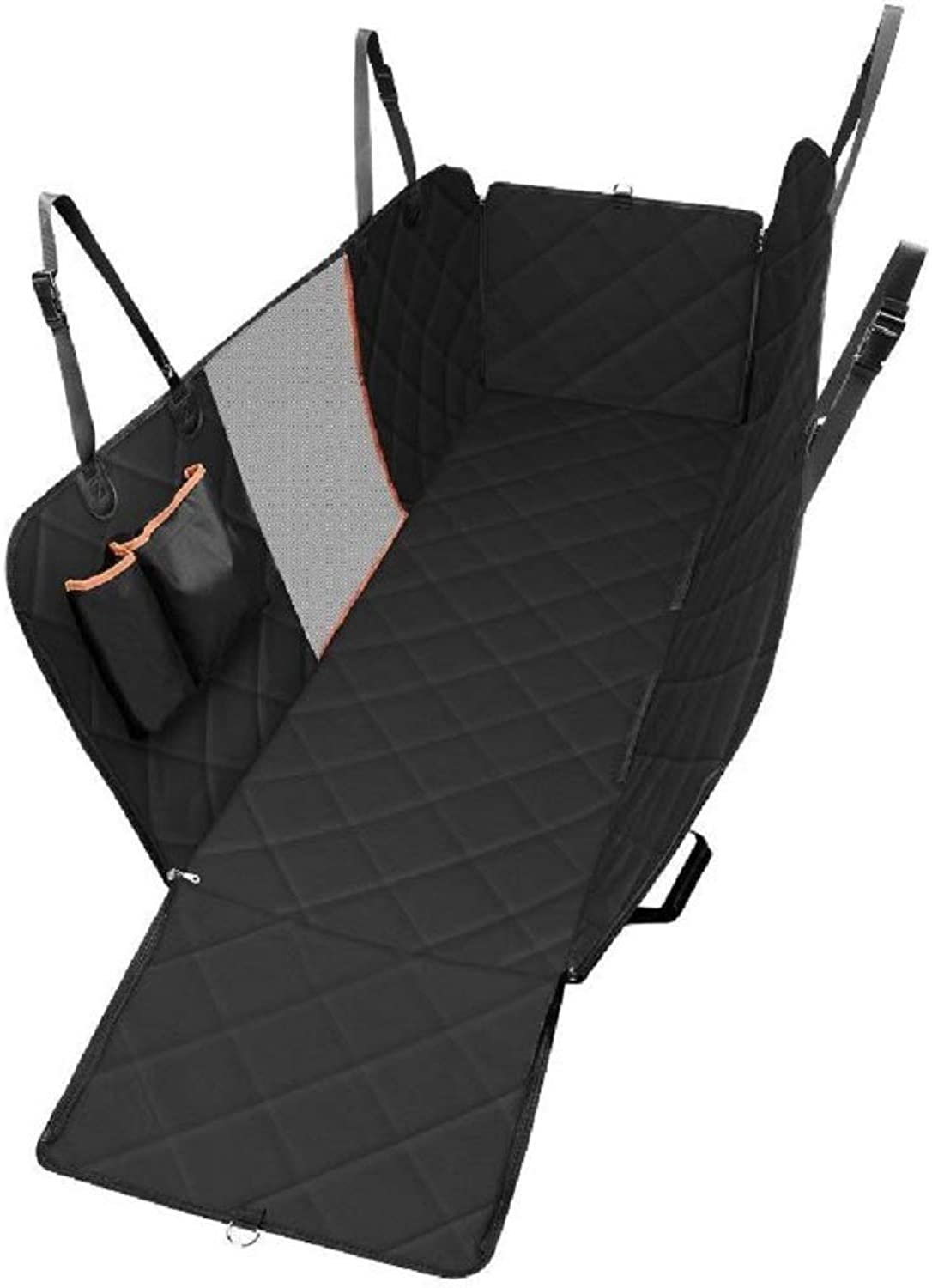 GDDYQ Dog Car Mat, Waterproof and ScratchProof Dog Hammock and Car Seat Cover With Storage Bag and Mesh Viewing Window