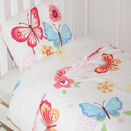 Butterfly Parure de lit Simple Papillon Blanc