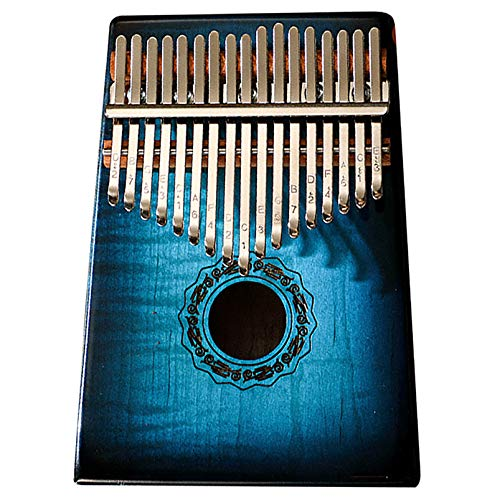 Daumenklavier Kalimba 17 Keys Musikinstrument, Finger Percussion Tasten C Schlüsseldaumenklavier Marimbas Instrument Finger Klavier Für Musikliebhaber, (18cm X 14cm) Gradient blue