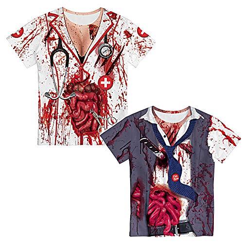 Ragazzi T-Shirt Zombie Clown Divertente Tops Camicie /&