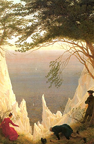 Bilderdepot24 Fototapete selbstklebend Caspar David Friedrich - Alte Meister - Kreidefelsen auf Rügen - 100x155 cm - Gemälde der Romantik