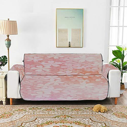 WDDHOME Glitter Romantic Pink Kirschblütenbezug Couch Sofa T Kissen Sofabezug Cabrio Sofabezug 66'(168 cm) Für 3-Sitzer Maschinenwäsche...