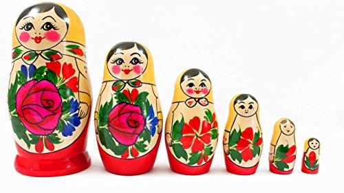 Schaepers Kaleidoskope Matroschka /Original Russische Babuschka / Handbemalt / 6 teilig