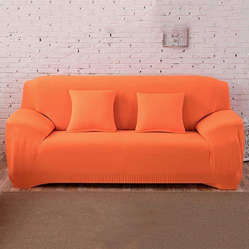 Funda de Sofá Elastica de 1 2 3 4 Plazas Universal,Funda Cubre Sofas Ajustables de Color Sólido Antideslizante Protector Cubierta de Muebles con Cuerda de Fijación,Anti Gatos O 2 Plaza