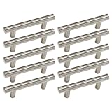 10x tubo de acero inoxidable set de tiradores para muebles, barras de agarre, empuñaduras Ø 12 mm.