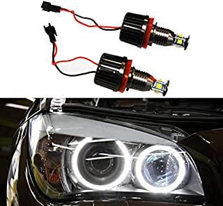 Autolizer H8 40W CREE LED Angel Eye Halo Ring Bulbs 6000K Xenon White BMW Headlights Lamps Marker for BMW E60 E61 E90 E92 E70 E71 E82 E89 1 3 5 X5 X6 Z4 (Black)