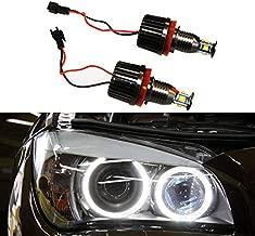 Autolizer H8 40W CREE LED Angel Eye Halo Ring Bulbs 6000K Xenon White BMW Headlights Lamps Marker for BMW E60 E61 E90 E92 E70 E71 E82 E89 1 3 5 X5 X6 Z4 (Black)
