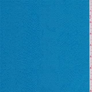 Aqua Blue Snakeskin Pleather Look, Fabric by The Yard