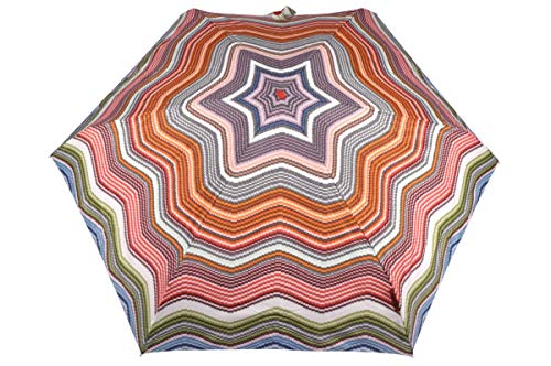 Missoni Designer Schirm Taschenschirm Umbrella Ombrella Paraguas Parapluie - Orange Label 17367