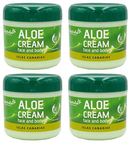 TABAIBA Aloe Vera Crème Visage/Vorps 300 ml x 4 Unités