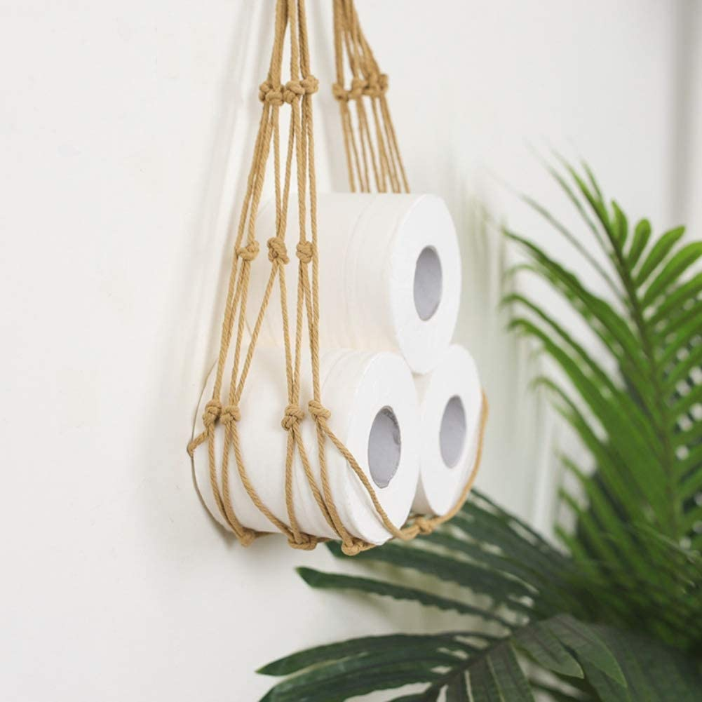 Taykoo Virginia Beach Mall We OFFer at cheap prices Wall Hanging Storage Bag Rope Decor Mount Bohemian