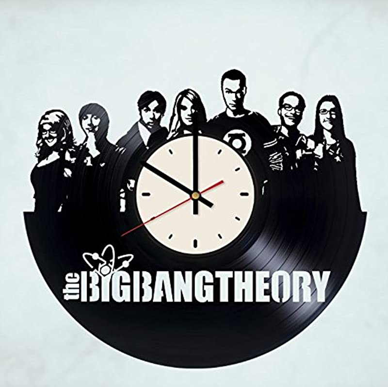 Pieceful Big Bang Theory Vinyl Record Wall Clock Sheldon Cooper Gift Idea For Birthday Christmas Women Men Friends Girlfriend Boyfriend And Teens Living Kids Room Nursery White Black