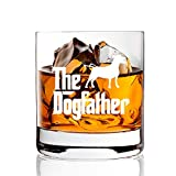 AGMdesign, The Dog Father Whiskey Glasses Gifts for Dog Owner, Dog...