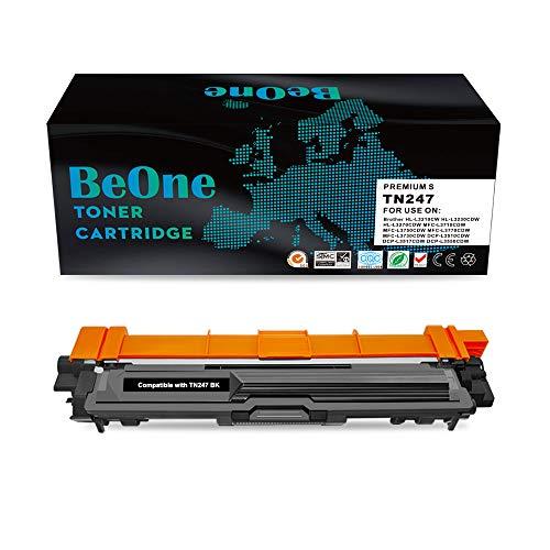 BeOne® Cartucho de tóner Compatible TN247 TN243 de Brother (1 Negro), Utilizado en HL-L3210CW HL-L3230CDW HL-L3270CDW MFC-L3710CDW MFC-L3750CDW MFC-L3770CDW MFC-L3730CDW DCP-L3510CDW DCP-L3700CV