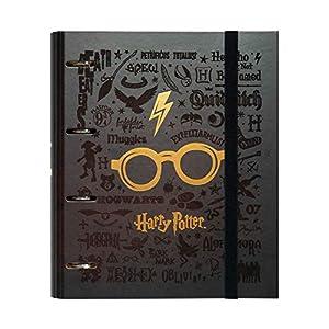 ERIK - Carpeta 4 anillas troquelada premium Gafas, Harry Potter, A4 (26x32cm) 1