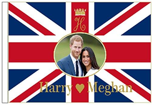 Prince Harry & Meghan markle Royal Hochzeit Verlobungsring 45cm x 30cm Ärmeln Flagge